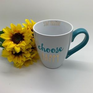 Sheffield Home Teal Stay Positive 12 FL. Oz. Mug